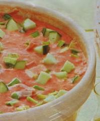 zuppa fredda al pomodoro,zuppa,zuppa di pomodori,pomodoro,ricette di cucina,ricette,peperone,cetriolo,