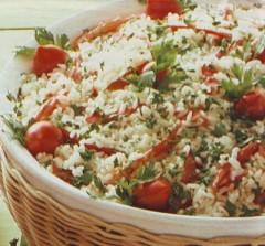 insalata di riso pomodori e menta,insalata,insalate,insalata di riso,riso,ricette di cucina,