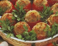 pomodori farciti alla carne,pomodori farciti alla salsiccia,pomodori farciti al pangrattato,pomodori,pomodoro,pomodoro imbottito,ricette di cucina,ricette,pomodori,