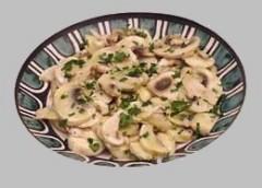 funghi in salsa,funghi,salsa,ricetta con i funghi,semi di finocchio,ricetta vegetariana