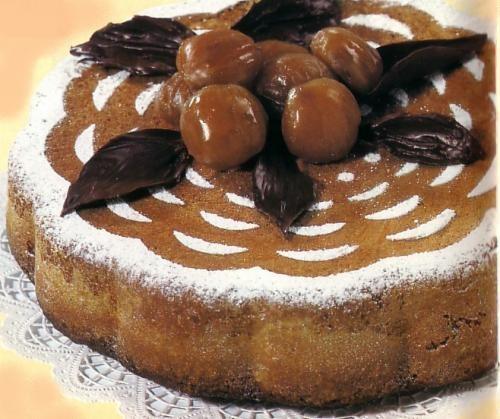 Le ricette fantasia torta di castagne for Dolce di castagne
