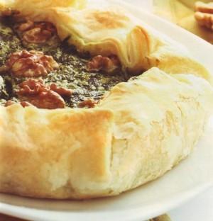 torta salata spinaci e gorgonzola,torta salata,torte salate,gorgonzola,spinaci,noci,ricette torte salate,