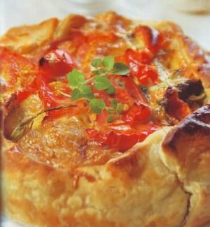 torta salata ai peperoni,torte salate,torta ai peperoni,peperoni,ricotta,ricette torte salate,