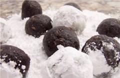 palline dolci al cacao,dolce senza cottura,palline al cacao,palline dolci alle mandorle,cacao