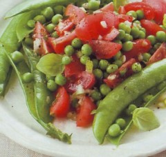 insalata di piselli e pomodorini,insalata,insalate,pomodori,piselli,