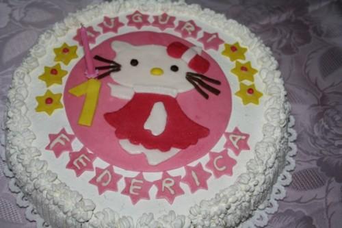 torta 1° compleanno hello kitty,torta hello kitty,torta primo compleanno,torta compleanno,torta,torte,torta farcita,bagna per torte,