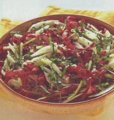 insalata croccante,insalate,insalata,radicchio,rucola,aceto,