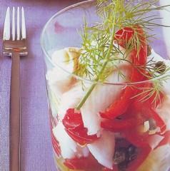insalata di pesce e verdure,insalata,insalate,insalata di pesce,insalata pesce e verdure,verdure,ricette,ricette di cucina,limone,salsa worcester,yogurt al naturale,